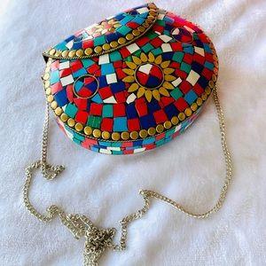 Handbags - 🌟HOSTPICK 🌟 Marrakesh Metallic Tile ClutchwChain